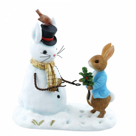 Border Fine Arts PETER RABBIT AND SNOW RABBIT FIGURINE CAST STONE A28965