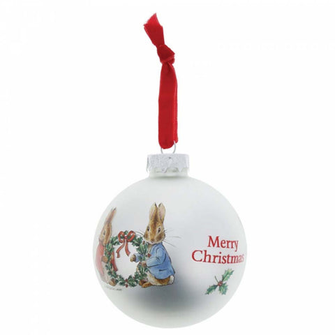 Border Fine Arts PETER AND FLOPSY CHRISTMAS BAUBLE GLASS A28974