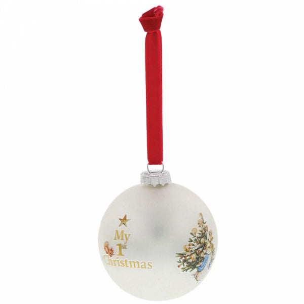 Border Fine Arts PETER MY 1ST CHRISTMAS BAUBLE GLASS  A29823