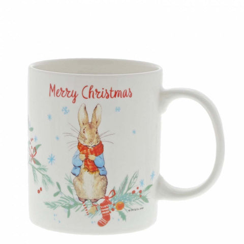 Beatrix Potter PETER RABBIT CHRISTMAS MUG A30187