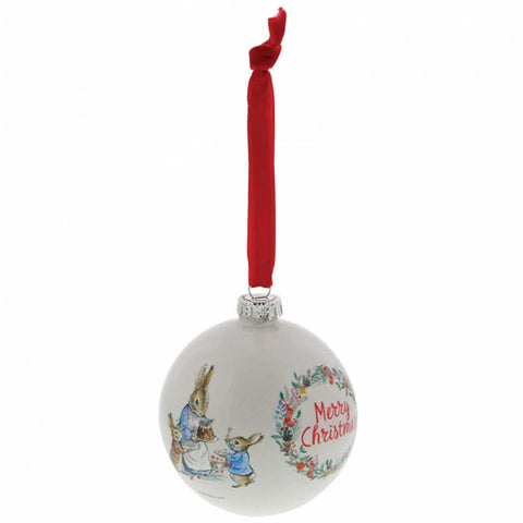 Beatrix Potter PETER RABBIT CHRISTMAS BAUBLE A30193