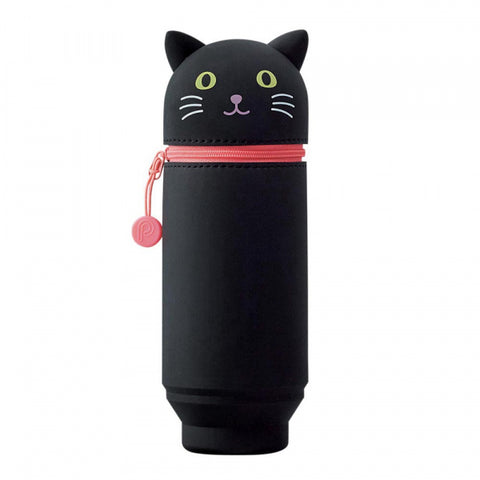 Stand Up Pen Case - Black Cat New