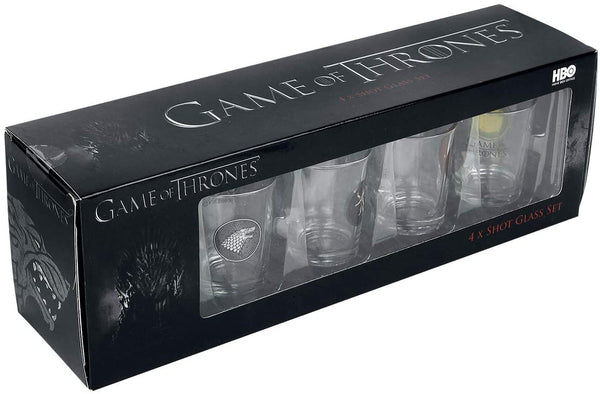 Game Of Thrones Set Of 4 Houses Shot Glasses