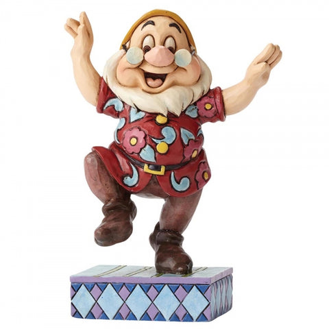 Disney Traditions Dancing Doc Dwarf Figurine 11cm