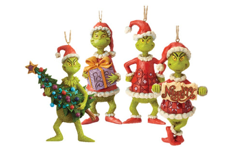 The Grinch Who Stole Christmas Hanging Decorations by Jim Shore Set of 4