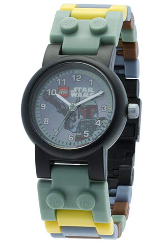 LEGO Star Wars Boba Fett Watch Buildable with Link Bracelet and Minifigure green/grey