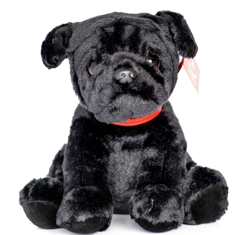Exclusive Aurora Black Pug Plush Soft Toy 24cm