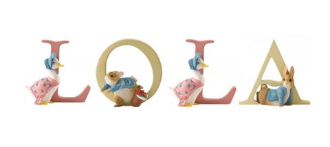 Beatrix Potter Alphabet Letters 'Lola' Set