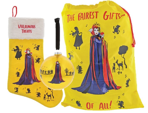 Disney Villains Evil Queen Christmas Sack, Stocking and Bauble Gift Set