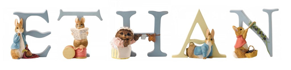 Beatrix Potter Alphabet Letters 'Ethan' Set