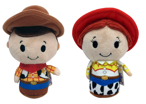 Toy Story Itty Bitty Woody and Jessie Set of 2 Soft Toys New