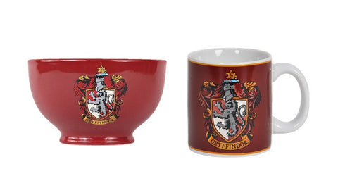 Harry Potter Gryffindor Crest Mug and Bowl Set