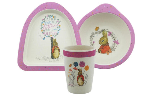 Beatrix Potter Flopsy Organic Bowl, Plate and Beaker Set