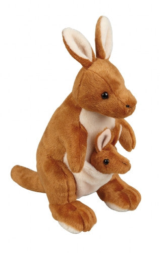 Ravensden Kangaroo with Baby Soft Toy 28cm