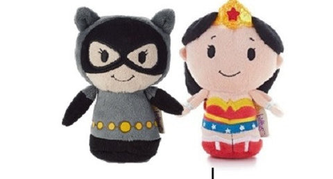 Hallmark DC Comics Itty Bitty set of 2 Cat Woman and Wonder Woman Soft Toys 11cm
