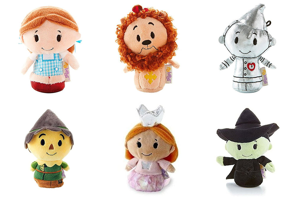 Wizard Of Oz Itty Bitty Set Of Dorothy, Cowardly Lion, Scarecrow, Tin man, Glinda and Wicked Witch