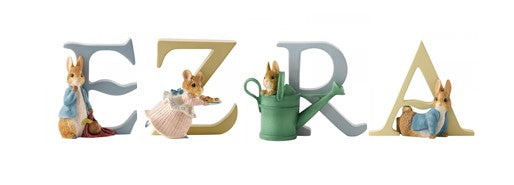 Beatrix Potter Alphabet Letters 'Ezra' Set