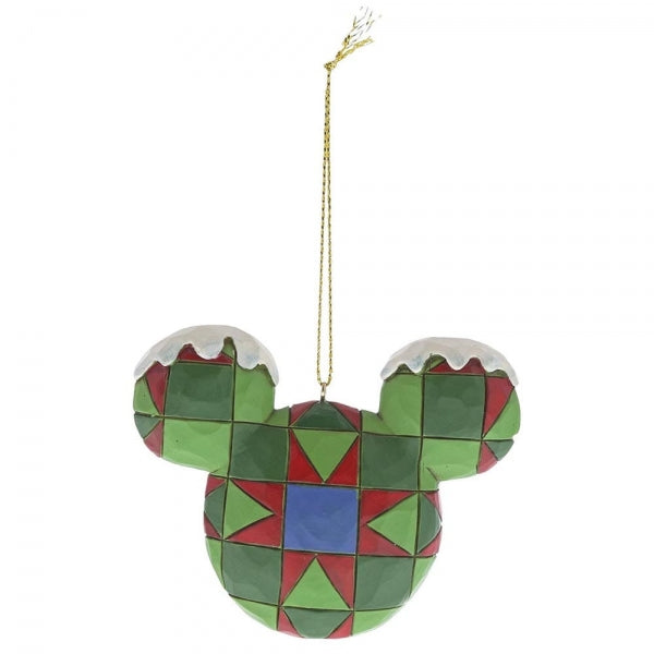 Jim Shore Mickey Mouse Head Hanging Ornament Set
