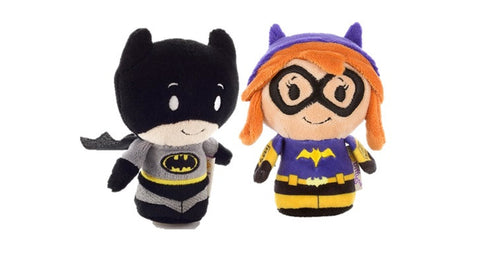 Batman and Batgirl DC Comics Set of 2 Itty Bittys Beanie Soft Toys 12cm
