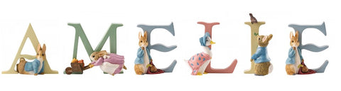 Beatrix Potter Alphabet Letters 'Amelie' Set