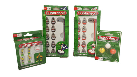 Subbuteo mulit set - 2 Teams, Referee and Footballs