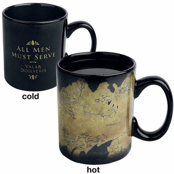 Game of Thrones Westeros Map Heat Change Black Mug