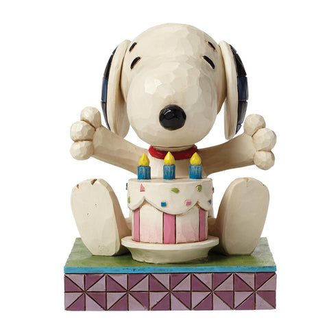 Peanuts By Jim Shore Happy Birthday Snoopy Figurine
