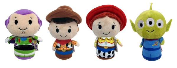Toy Story Itty Bitty Woody, Buzz, Jessie, Alien Set of 4 Soft Toy New