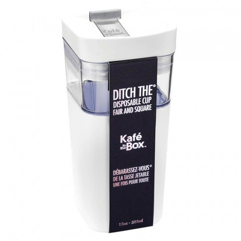 Kafe in the Box Designer Travel Mug 12oz - 355ml Small White