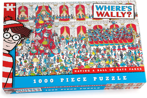 Where's Wally Having A Ball In Gaye Paree 1000 Piece Jigsaw Puzzle by Paul Lamond Puzzles