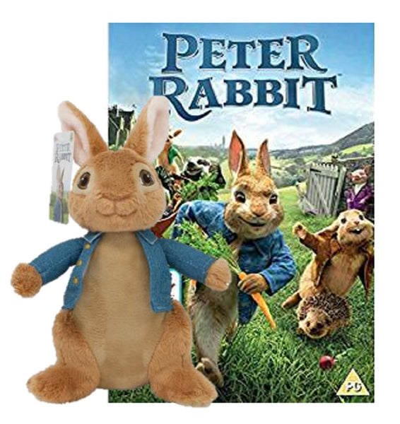 Peter Rabbit Movie Soft Toy PO1503 with Peter Rabbit DVD