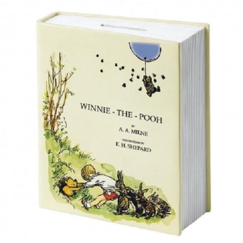 Classic Pooh 90th Anniversary Book Money Bank New Boxed