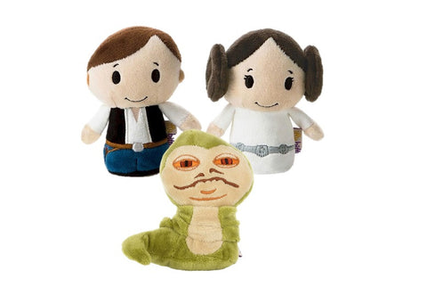 Han Solo, Leia and Jabba the Hutt Set of 3 Star wars Itty Bittys Beanie Soft Toy