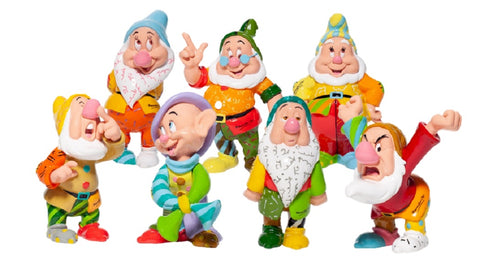 Disney Britto Seven Dwarfs Mini Figurine Set of 7 Dwarfs