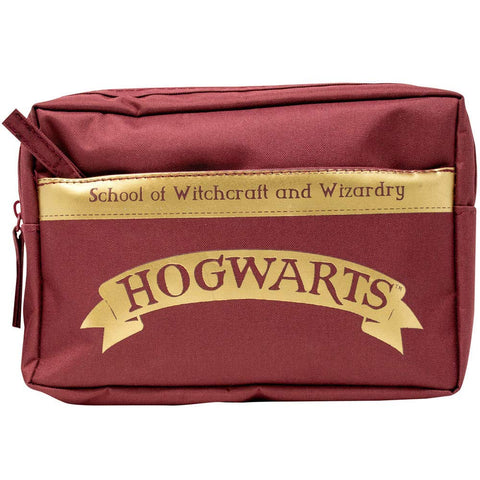 HARRY POTTER Hogwarts Multi Pocket Pencil Case Stationery New with Tags