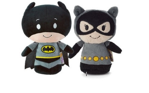 Hallmark DC Comics Itty Bitty Set of 2  Batman and Cat Woman Soft Toy 11cm
