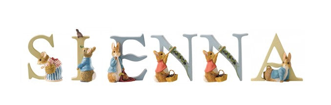 Beatrix Potter Alphabet Letters 'Sienna' Set