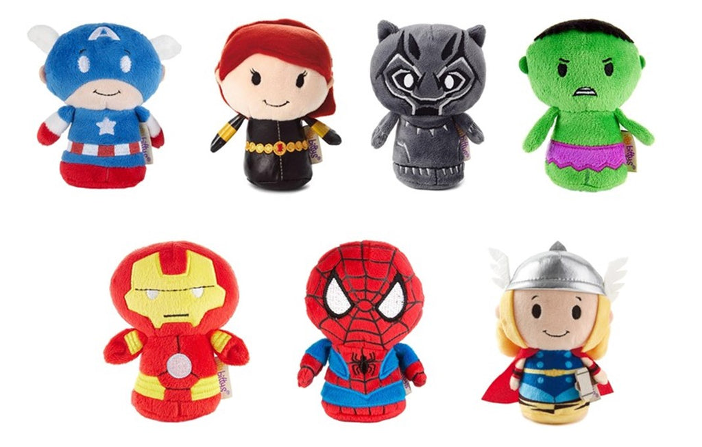 Itty Bitty Marvel Avengers set of 7 Soft Toys