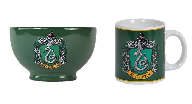 Harry Potter Slytherin Crest Mug And Bowl Set