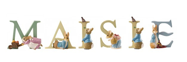 Beatrix Potter Alphabet Letters 'Maisie' Set