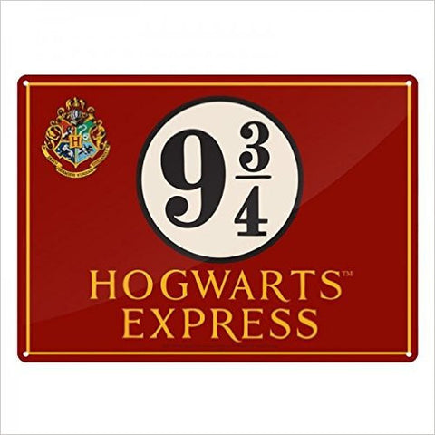 Harry Potter Hogwarts Express Metal Wall Sign A5