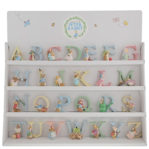 Beatrix Potter Complete Set of 26 Alphabet Letters with Display Unit