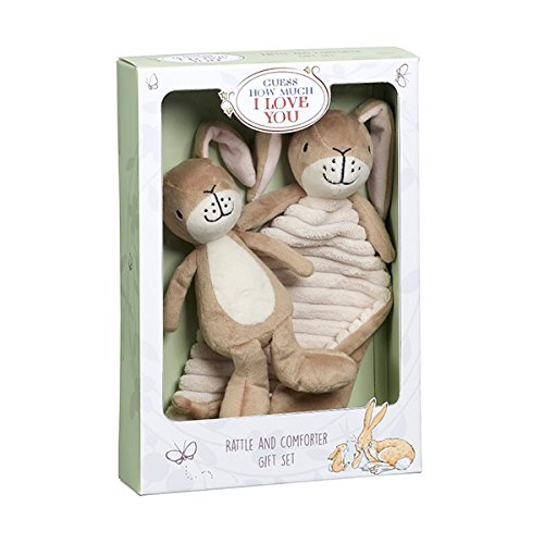 Rainbow Designs Guess How Much I Love You Rattle and Comforter Gift Set