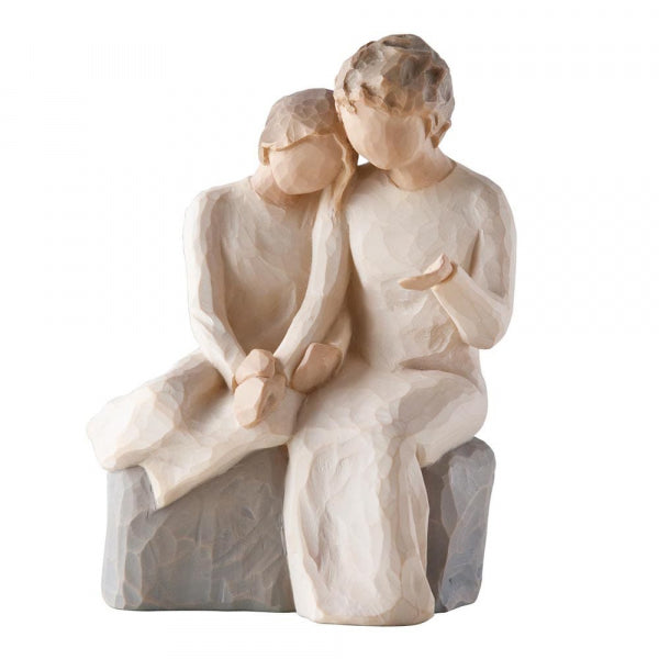 Willow Tree Figurines Gift Set Grandmother, Granddaughter and Dog