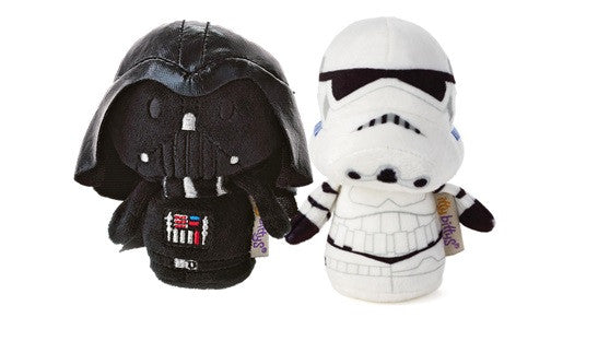 Hallmark Star Wars Itty Bitty Set Of Darth Vader and Storm Trooper Soft Toy 11cm