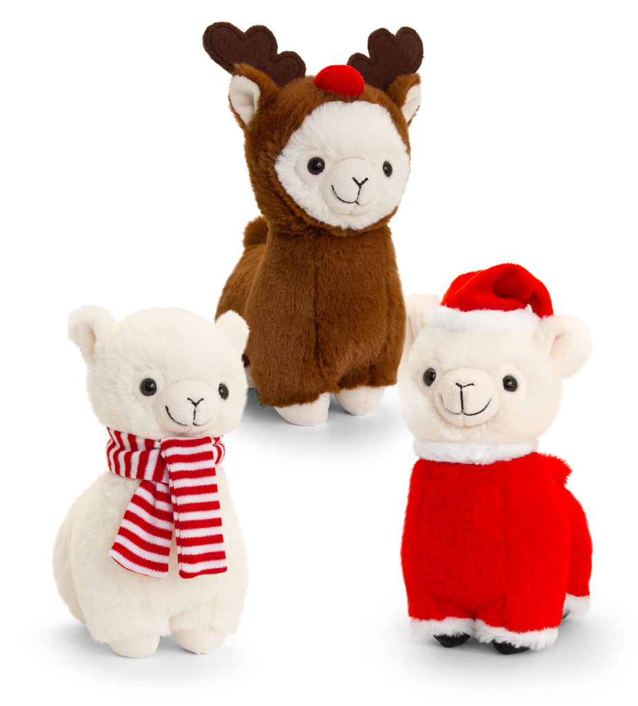 Keel Toys Llama with Reindeer Outfit 20cm