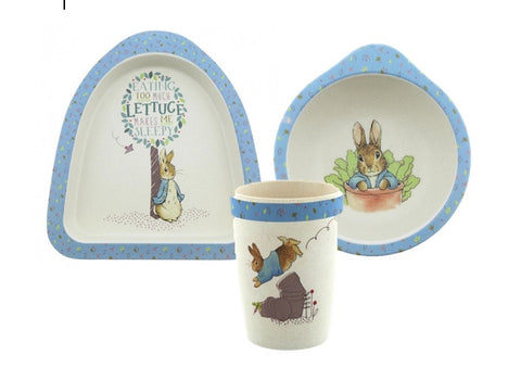 Beatrix Potter Peter Rabbit Organic Bowl, Plate and Beaker Set