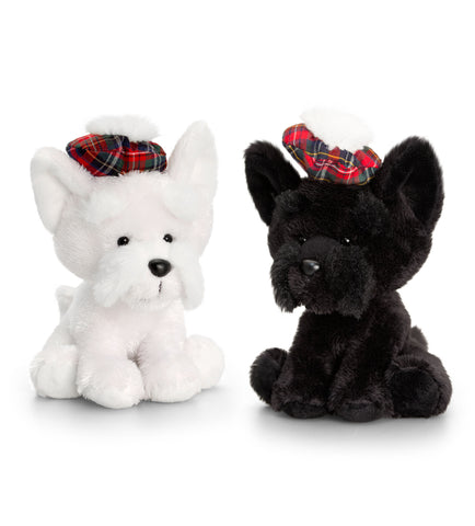 Keel Toys Hamish Westie and Scottie Dog 15cm Set of 2