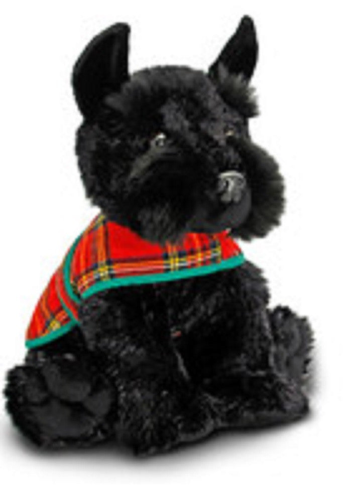 Scottie Dog With Tartan Jacket