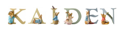 Beatrix Potter Alphabet Letters 'Kaiden' Set